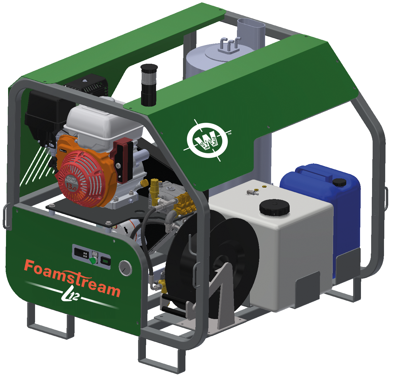 Foamstream L12 weed control machine with added cleaning functionality